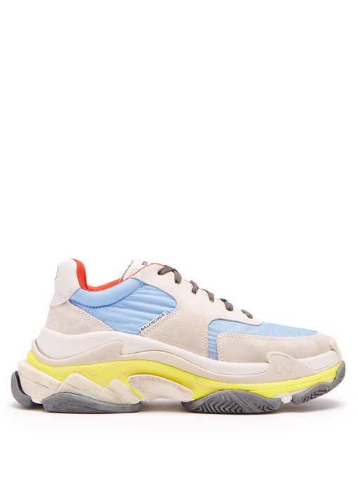 Blue fashion trend favorites featured by top US high end fashion blog, A Few Goody Gumdrops: image of Balenciaga sneakers.
