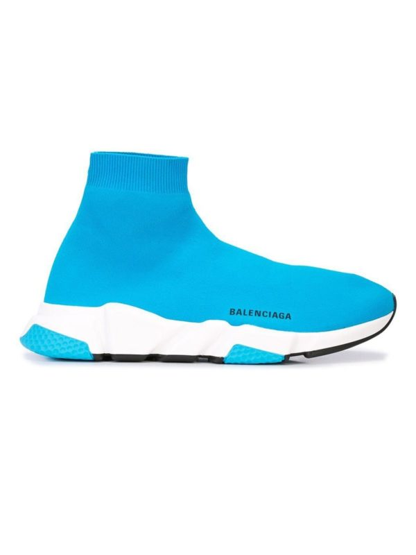 Blue fashion trend favorites featured by top US high end fashion blog, A Few Goody Gumdrops: image of a blue sock sneakers.