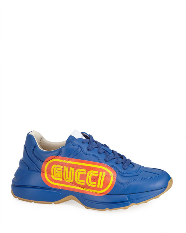 Blue fashion trend favorites featured by top US high end fashion blog, A Few Goody Gumdrops: image of blue Gucci sneakers.