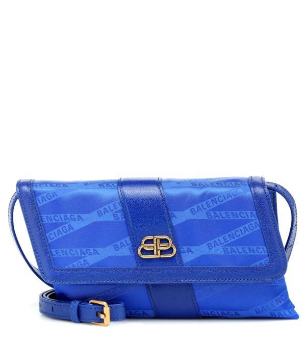 Blue fashion trend favorites featured by top US high end fashion blog, A Few Goody Gumdrops: image of a blue Balenciaga shoulder bag.