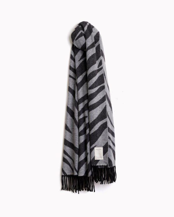 Unique gifts for fashion lovers features by top US high end fashion blog, A Few Goody Gumdrops: image of a Rag & Bone zebra scarf
