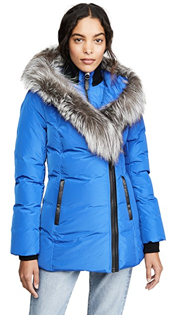 Blue fashion trend favorites featured by top US high end fashion blog, A Few Goody Gumdrops: image of a blue Package jacket.