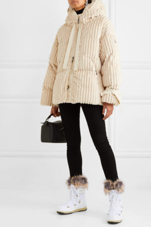 White boots trend featured by top US high end fashion blog, A Few Goody Gumdrops: image of Monaco Moon Boots