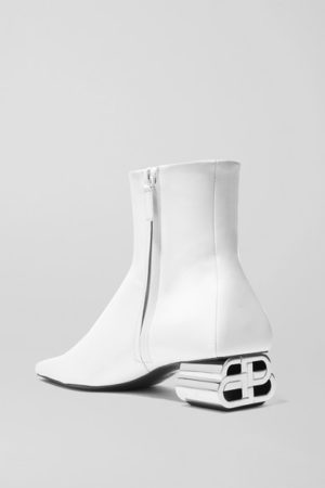 White boots trend featured by top US high end fashion blog, A Few Goody Gumdrops: image of Balenciaga white boots