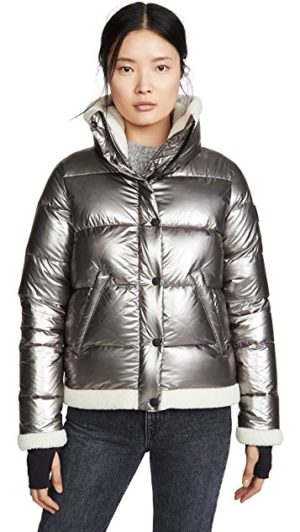 Designer ski jackets featured by top US high end fashion blog, A Few Goody Gumdrops: Sam Willa puffer jacket