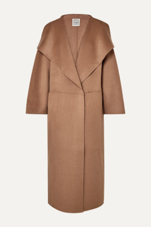 Camel coat trend favorites featured by top US high end fashion blog, A Few Goody Gumdrops: image of Totem oversized camel coat