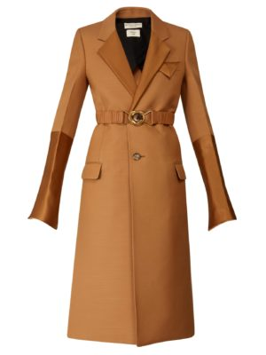 Camel coat trend favorites featured by top US high end fashion blog, A Few Goody Gumdrops: image of Bottega Veneta camel coat