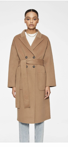 Camel coat trend favorites featured by top US high end fashion blog, A Few Goody Gumdrops: image of Anine Bing camel coat