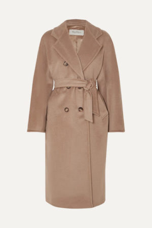 Camel coat trend favorites featured by top US high end fashion blog, A Few Goody Gumdrops: image of Max Mara camel coat
