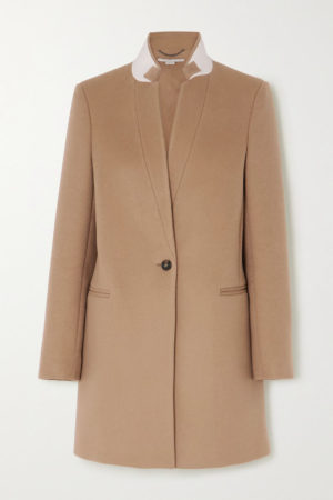 Camel coat trend favorites featured by top US high end fashion blog, A Few Goody Gumdrops: image of Stella McCartney camel bryce coat