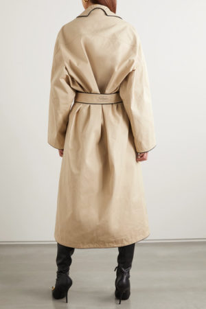 Designer Trench Coats for Spring roundup, featured by top US high end fashion blog, A Few Goody Gumdrops: Balenciaga leather trench coat