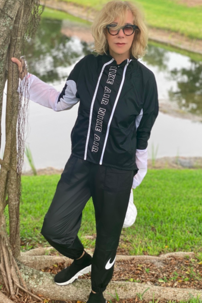 Nike Sweats and Leggings for Women to Wear During Quarantine: image of a woman wearing Nike Joggers